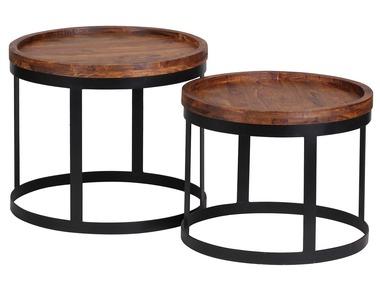 Wohnling Odkládací stolek AKOLA ze sheeshamového dřeva